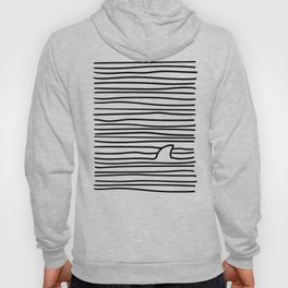Minimal Line Drawing Simple Unique Shark Fin Gift Hoody