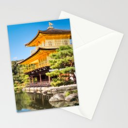 Side View of the Golden Pavilion in Kyoto, Japan. Stationery Cards
