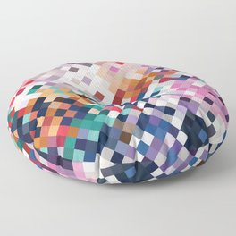 Abstract Mosaic Floor Pillow