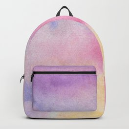 Abstract artistic hand painted pink lavender watercolor Backpack