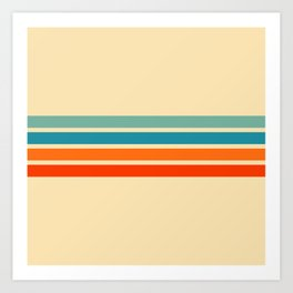 Ienao - Classic 70s Retro Stripes Art Print
