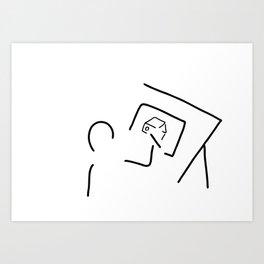 architect technical draftsmen Art Print