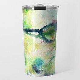 BERTOLT BRECHT - watercolor portrait Travel Mug