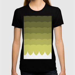 Ombre olive waves T-shirt