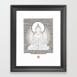 Tsepakmey Amitayus - The Buddha of boundless life Framed Art Print