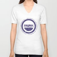 concert V-neck T-shirts featuring pawnee/eagleton unity concert  by studiomarshallarts