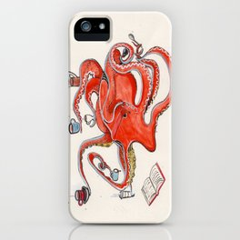 Olive the Octopus Barista iPhone Case