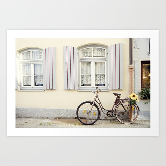 Retro bike Art Print