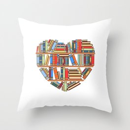 """Hearty Library Books For Amazing People """"Reading Is Lit"""" T-shirt Design Books Library Study Learning Throw Pillow"""