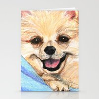 pomeranian Stationery Cards featuring Preppy Pomeranian by Britanee LeeAnn Sickles