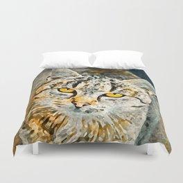 Cat Painting Duvet Cover