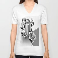 pi V-neck T-shirts featuring PI by Artysmedia