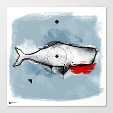 white whale Canvas Print