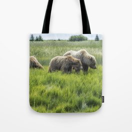 A Mother and Her Two Cubs, No. 2 Tote Bag
