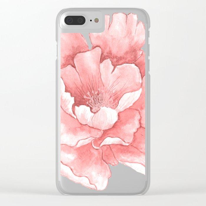 Beautiful Flower Art 21 Clear iPhone Case