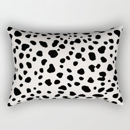 Polka Dots Dalmatian Spots Rectangular Pillow