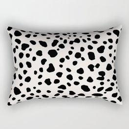 Polka Dots Dalmatian Spots Black And White Rectangular Pillow