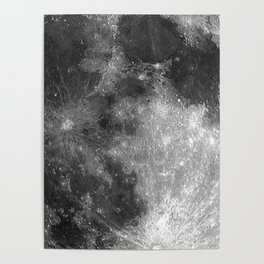 Black & White Moon Poster
