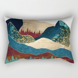 Malachite Mountains Rectangular Pillow