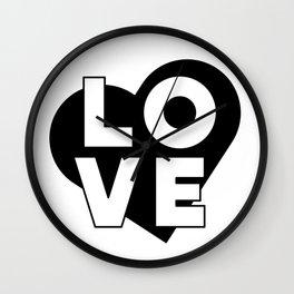 LOVE & heart Wall Clock