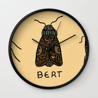bugs Wall Clocks featuring bugs. by MorningMajor