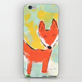 Bright and Happy Fox iPhone Skin