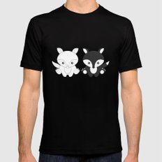 Twins Fox SMALL Black Mens Fitted Tee