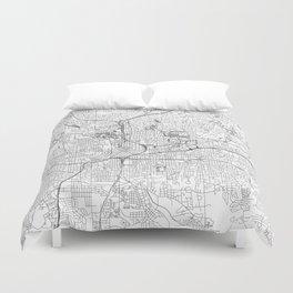 Atlanta White Map Duvet Cover