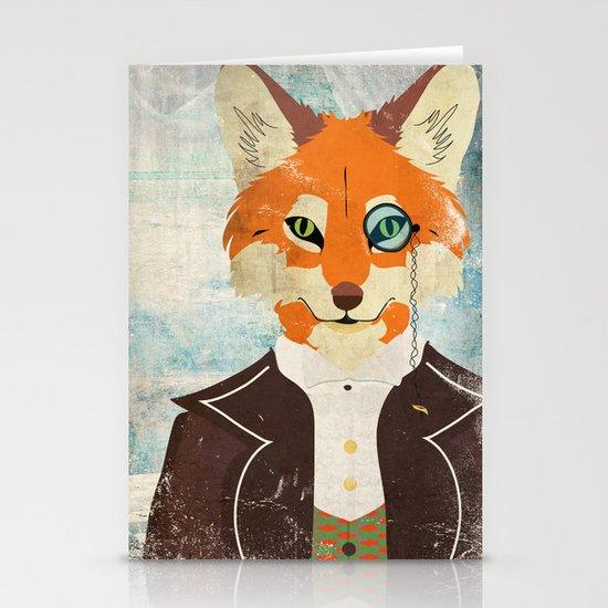 Foxy le dandy Stationery Cards