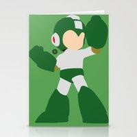 mega man Stationery Cards featuring Mega Man(Smash)Green by ejgomez