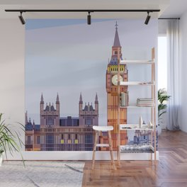 Geometric Big Ben, London, UK Wall Mural