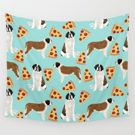 Saint Bernard pizza slices funny cute dog gifts for dog lover unique dog breeds Wall Tapestry