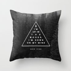 Woods -- Bon Iver Throw Pillow