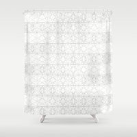 constellation Shower Curtains featuring constellation by Anthony Liptak