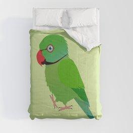 Cute Indian ringneck parakeet Comforters