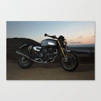 ducati Canvas Prints featuring Ducati 005 by Austin Winchell
