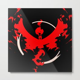 Team Valor Red Metal Print