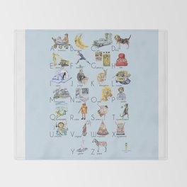 ABC English alphabet for boys Throw Blanket