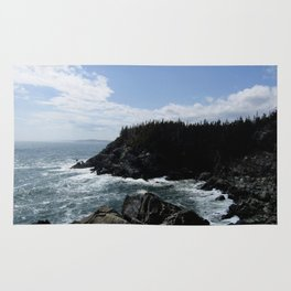 Scenic Coastal Views From the Trail Rug