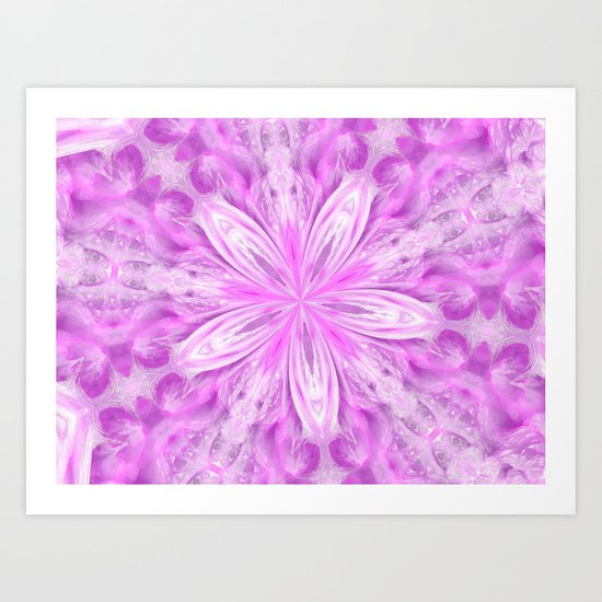 Dreaming of a pink star Art Print