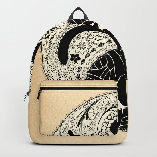 - yin & yang - [collaborative art with famenxt] Backpack