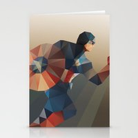 captain silva Stationery Cards featuring Captain by Ed Burczyk