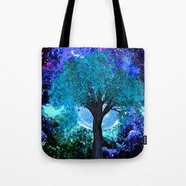 TREE MOON NEBULA DREAM Tote Bag