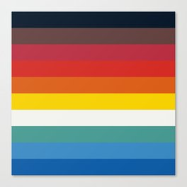 Multicolor Retro Stripes Trickster Canvas Print