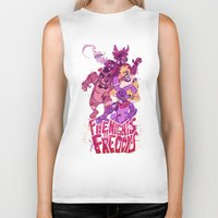 fnaf Biker Tanks featuring Five Nights at Freddy's by Camille Dion-Bolduc
