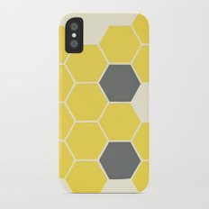 Yellow Honeycomb iPhone X Slim Case