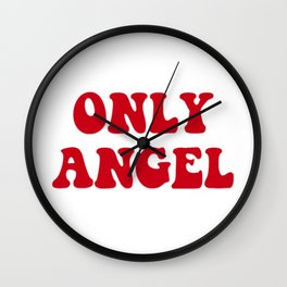 Only Angel Wall Clock