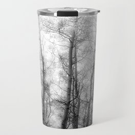 Black and White Aspens Travel Mug
