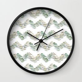 Sea Glass - Chevrons Wall Clock