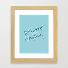 The Yeast Whisperer (Handwritten) Framed Art Print